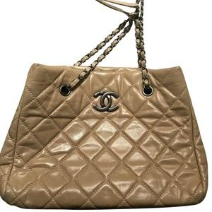 CHANEL Tan Shopping Tote